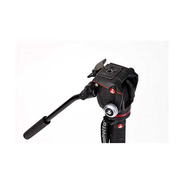 RetinaPix Manfrotto Xpro Aluminum Video Monopod with 2-Way Video Head, Black