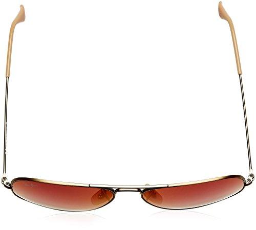 Lunettes Ray Rouge de Bronze Demiglos Brushed Mixte soleil Ban zA5wpBqg