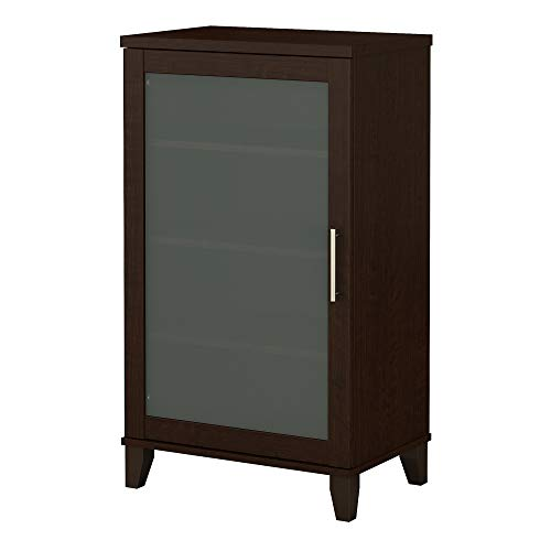 (Bush Furniture Somerset Media Cabinet in Mocha Cherry )