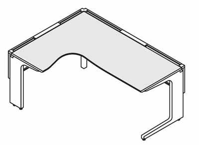 コクヨ レヴィスト デスクシステム パーソナルテーブル L型テーブル L側 幅1500×奥行き1500mm 本体色:S81(フラットシルバー)/天板色:PAW(ホワイト) B00AT85GIE S81(フラットシルバー)-PAW(ホワイト) S81(フラットシルバー)-PAW(ホワイト)