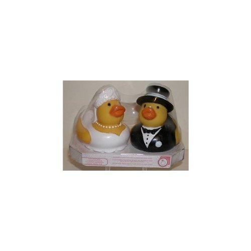 Bride & Groom Love Duckies Rubber Ducks Set