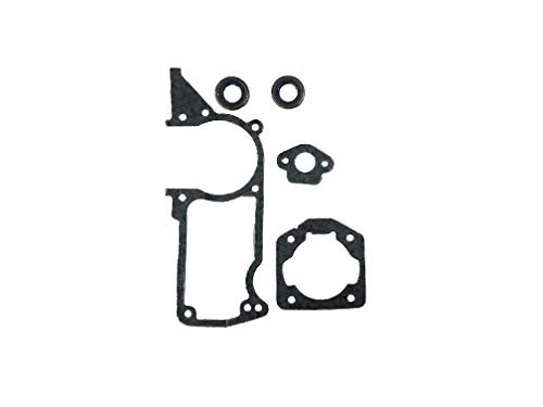 EngineRun Husqvarna Gasket Kit Oil Seals 6pcs Set fits for 51 55 55 Rancher Chainsaws OEM 501761802 Ships from The USA 501 76 18-02