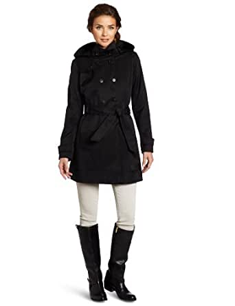 Tommy Hilfiger Women's Cora Trench Coat, Black, X-Small