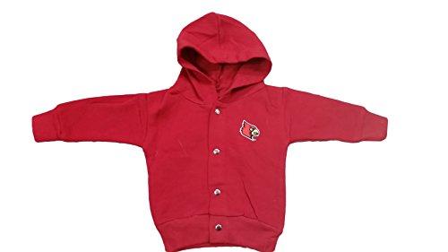Louisville Cardinals NCAA Newborn Hooded Sweatshirt Snap Jacket (3-6 - Shops Louisville