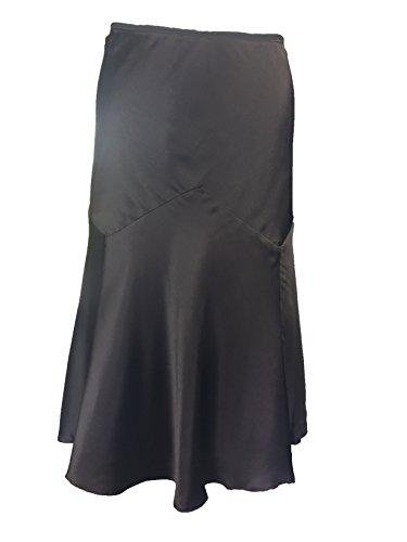 RALPH LAUREN Brown Silk Skirt Large