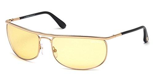 Tom Ford FT0418 Men's Ryder Sunglasses Frame, Rose Gold, 68-18-125 - Sunglasses Equestrian