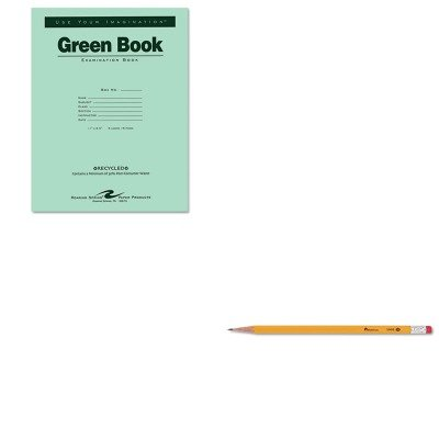 KITROA77509UNV55400 - Value Kit - Roaring Spring Green Books Exam Books (ROA77509) and Universal Economy Woodcase Pencil (UNV55400) by Roaring Spring