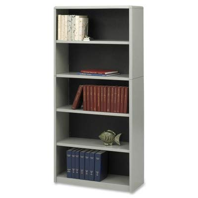 (Safco 7173GR - Value Mate Series Bookcase, 5 Shelves, 31-3/4w x 13-1/2d x 67h, Gray-SAF7173GR)