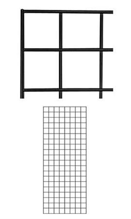 2 x 5 Foot Black Wire Grid Panel - 3'' on Center ¼'' Thick
