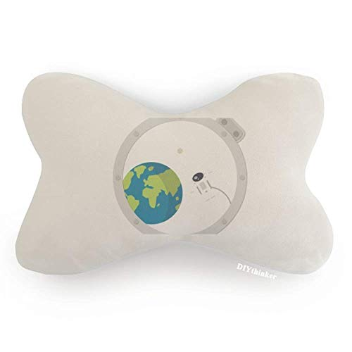 DIYthinker Universe and Alien Out of Window Car Neck Pillow Headrest Support Cushion Pad by DIYthinker