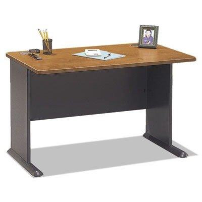bbf Series A 48quot; Desk - 47.5quot; Width x 26.9quot; Depth x 29.9quot; Height - Hardwood, Melamine, Pressboard - Medium Cherry, Natural Cherry, Slate Gray (Cherry Pressboard)