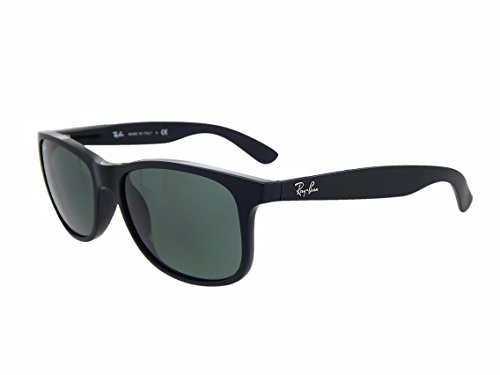 New Ray Ban Andy RB4202 606971 Black/Green Classic 55mm - Ban Ray Rb4202