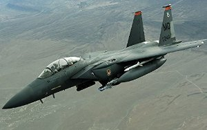 Military Mcdonnell Douglas F-15E Strike Eagle - 36X48 Poster
