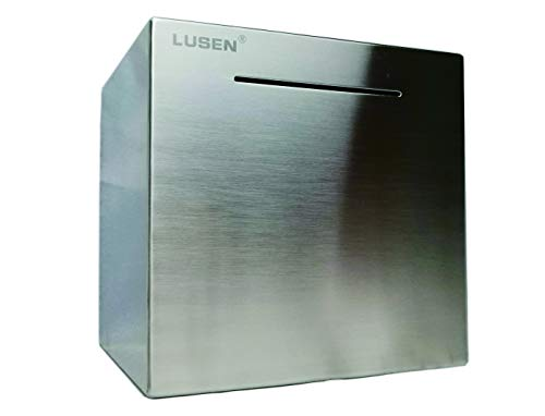 (LUSEN Safe Piggy Bank Made of Stainless Stell,Safe Box Money Savings Bank for Kids,Can Only Save The Piggy Bank That Cannot be Taken)
