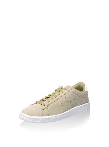 NIKE Herren Tennis Classic Leder Fashion Sneaker Khaki / Weiß