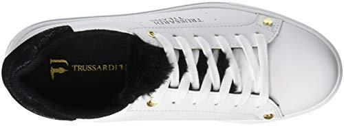 Gymnastique Femme Sneakers Jeans de Chaussures K299 Trussardi Lapin Fur Nero Tongue Noir 6AUq1w