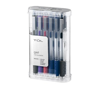 TUL Retractable Gel Pens 0.7 mm Medium Point, Assorted 12/pk by TUL (Image #1)