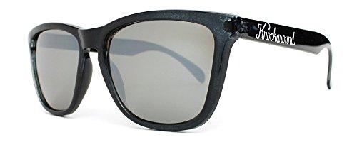 (Knockaround Classics Non-Polarized Sunglasses, Jet Black/Smoke)
