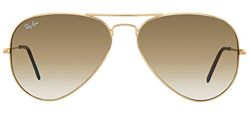 Ray-Ban RB3025 001/51 58mm Aviator Gold Frame / Light Brown Gradient Lenses Made In Italy Sunglasses