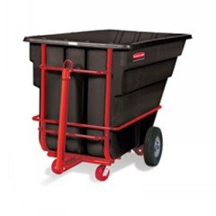 (Rubbermaid Commercial Products Rcp 1026 Bla 1-1/2 Cu Yd Tilt Truck Heavy Duty Black RCP 1026 BLA)