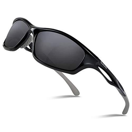 Duduma Polarized Sports Sunglasses for Running Cycling Fishing Golf Tr90 Unbreakable Frame (Bottle Rocket Bikes)
