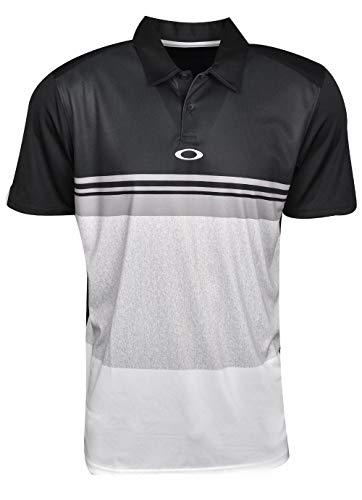 Oakley Color Block Take Polo, Blackout, Large