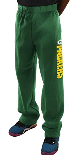 (Majestic Green Bay Packers Green Critical Victory VIII Open Bottom Sweatpants by (M=32-33))