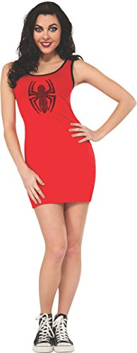Rubie's Women's Marvel Universe Adult Spider-Girl Rhinestone Tank Dress, Multi, -