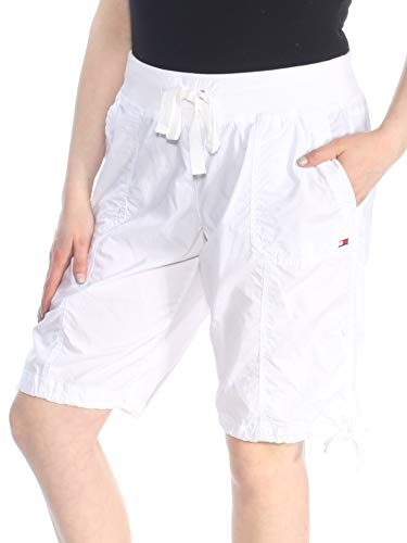 Tommy Hilfiger Sport Women's Ribbed W.B. Convertible Cargo Bermuda Short, White X-Large