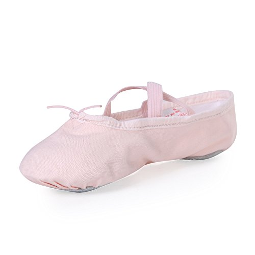 Stelle Girls' Ballet Slipper Dance Shoe Yoga Shoe (Toddler/Little Kid/Big Kid) (10 M Toddler, (Girls Leather Ballet Flats)