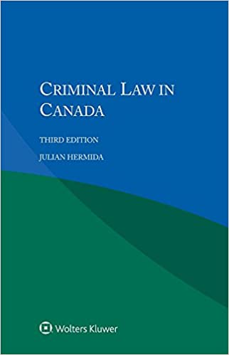 An analysis of the criminal law in canada