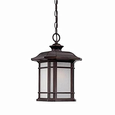 Acclaim 8116ABZ Somerset Collection 1-Light Outdoor Light Fixture Hanging Lantern, Architectural Bronze