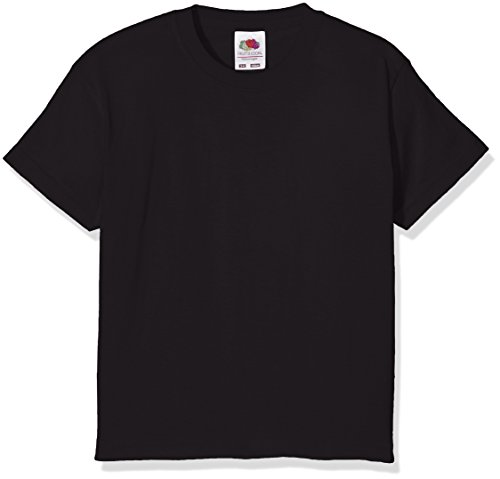 Fruit of the Loom Childrens/Kids Little Boys Valueweight Short Sleeve T-Shirt (12-13) (Black)