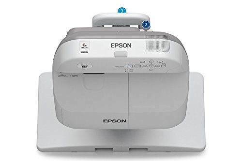 Epson PowerLite 585W WXGA Ultra-Short Throw 3LCD Projector for SMART Whiteboard, 1280x800, 3300 Lumens