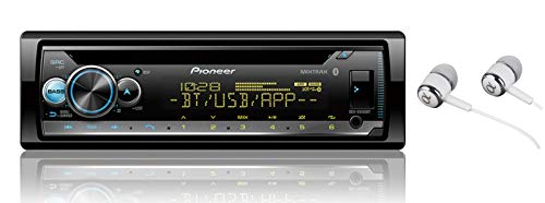 Pioneer DEH-S5100BT in-Dash Built-in Bluetooth CD, MP3, Front USB, Auxiliary, Pandora, AM/FM, Built in iPod, iPhone and iPad Controls, Dual Phone Connection Stereo Receiver/Free ALPHASONIK Earbuds (Radio Car Pioneer Bluetooth)