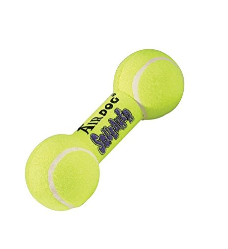 AIR Squeaker Dumbell Dog Toy Heavy Duty Floating Dogs Squeak Toys Tennis Ball (Large Dumbbell - 8 1/2