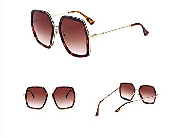 YLNJYJ Colors Ladies Big Frame G Square Sunglasses Women Shiny Gold Glasses Brand Designer Fashion Female Uv Protection
