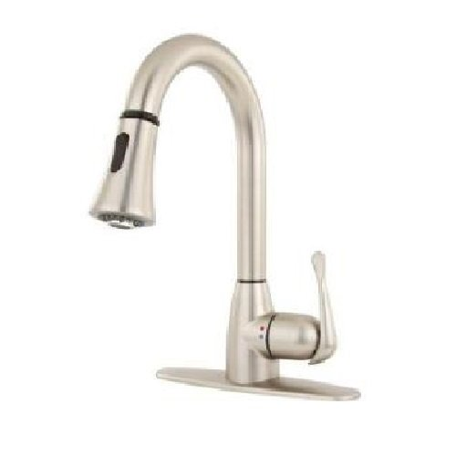 Glacier Bay New Touch Single Handle Pull Down Sprayer Kitchen Faucet In  Brushed Nickel   Touch On Kitchen Sink Faucets   Amazon.com