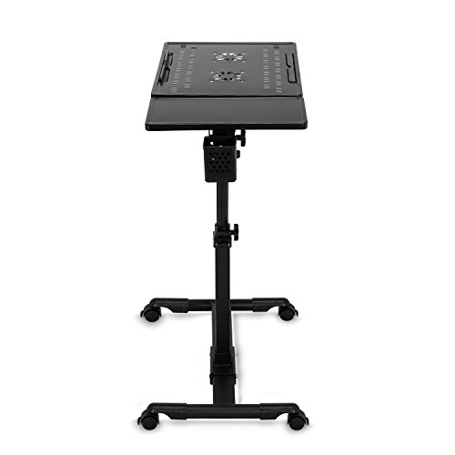 Burei Laptop Carts Mobile Standing Desk Adjustable Table