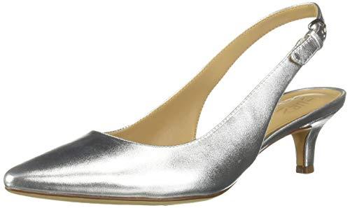 Naturalizer Women's Peyton Shoe, Silver Metallic, 10 W US