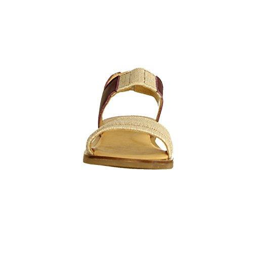 El Naturalista Tulip NF36- Damenschuhe Sandalette/Sling, Mehrfarbig, Leder/Textil (Dolce), Absatzhöhe: 5mm