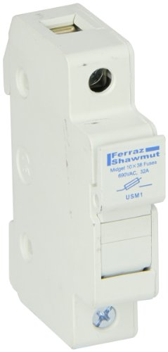 Price comparison product image Mersen USM UltraSafe Recommended Midget Fuse Block Holder,  1 Ampere 1 Pole