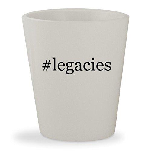 #legacies - White Hashtag Ceramic 1.5oz Shot Glass