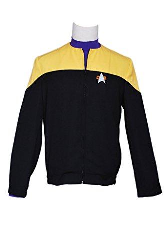 CosplayNow Star Trek Voyager Starfleet Cosplay Costume Yellow M (Star Trek Voyager Costume)