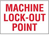 Vinyl Machine Lock-Out Point Lock-Out Label - 1-3/4''h x 2-1/2''w, White