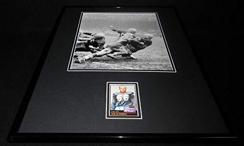 Autographed Schmidt Picture - Framed 16x20 Display Pitt - Autographed NFL Photos