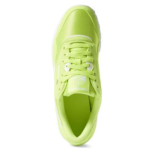ec8d294c1856 Amazon.com | Reebok Classic Nylon Sneaker neon Lime/White 12.5 M US |  Fashion Sneakers