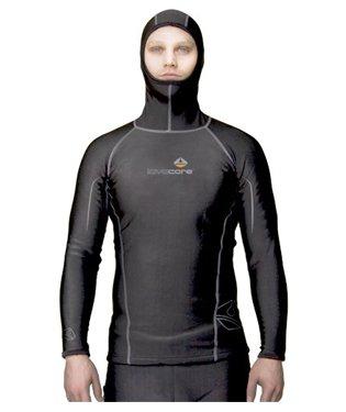 Lavacore Men's Polytherm Long Sleeve Hooded Scuba Diving Shirt, 2XL ()