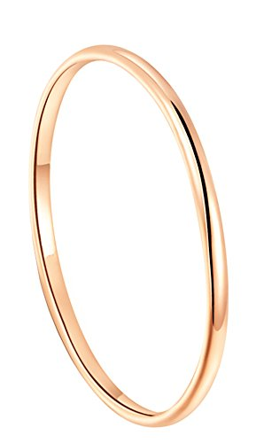 King Will GLORY 2mm Rose Gold Plated Polish Comfort Fit Domed Tungsten Carbide Ring Wedding Band (5)