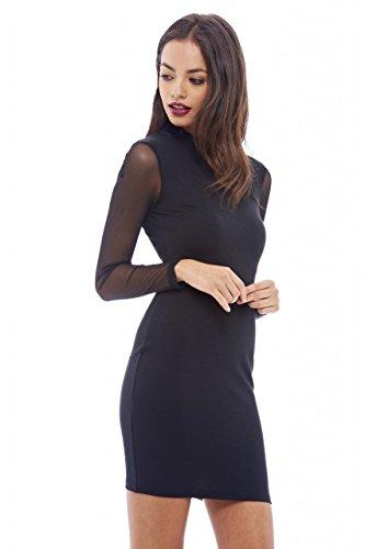 mesh arm dress - 8